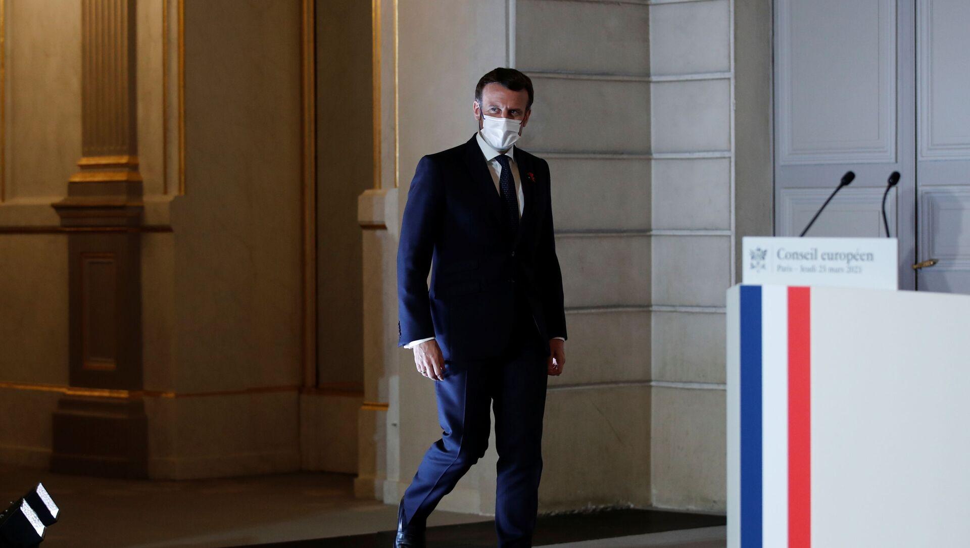 Emmanuel Macron - Sputnik France, 1920, 26.03.2021