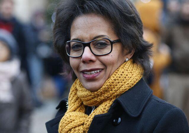La tête de liste du Parti socialiste aux élections régionales en Île-de-France, Audrey Pulvar