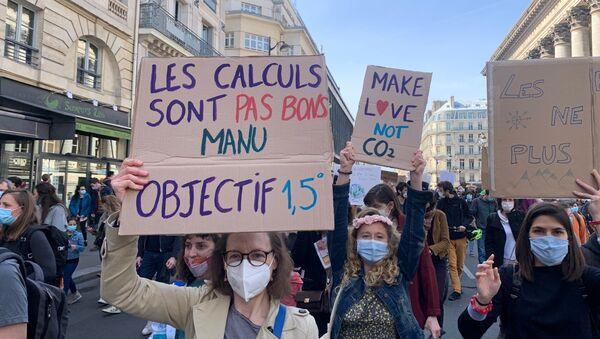 Mobilisation écologiste à Paris: marche pour une «vraie» loi Climat, 28 mars 2021 - Sputnik France