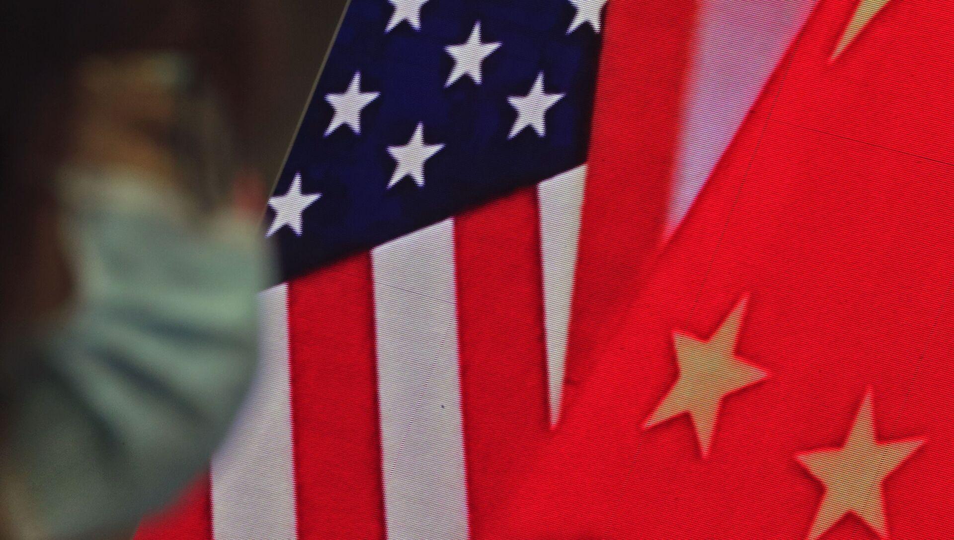 Drapeaux de la Chine et des USA - Sputnik France, 1920, 02.09.2021