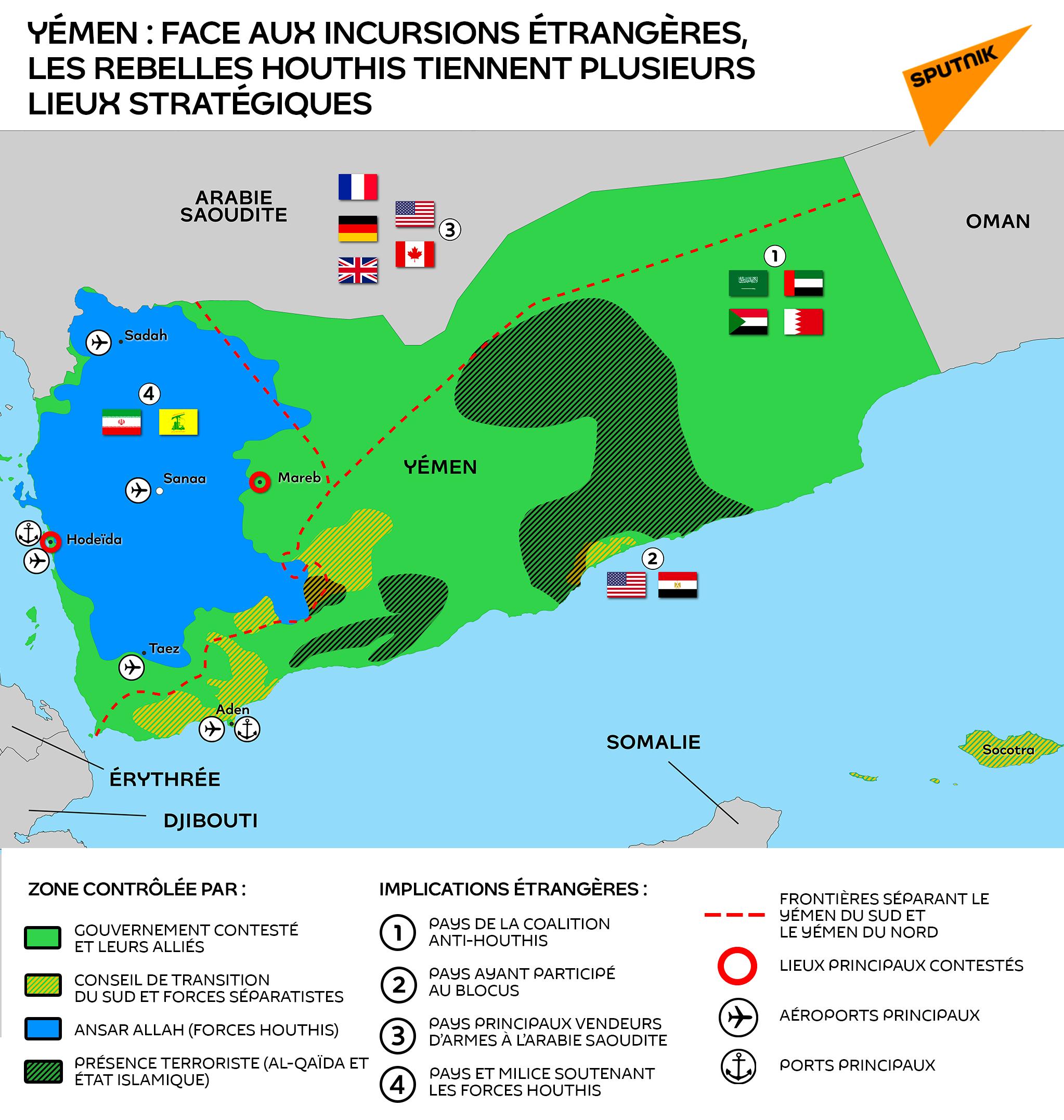 Yémen : face aux incursions étrangères, les rebelles houthis tiennent plusieurs lieux stratégiques