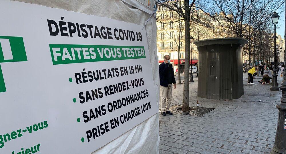 Centre de dépistage Covid-19 en France, image d'illustration