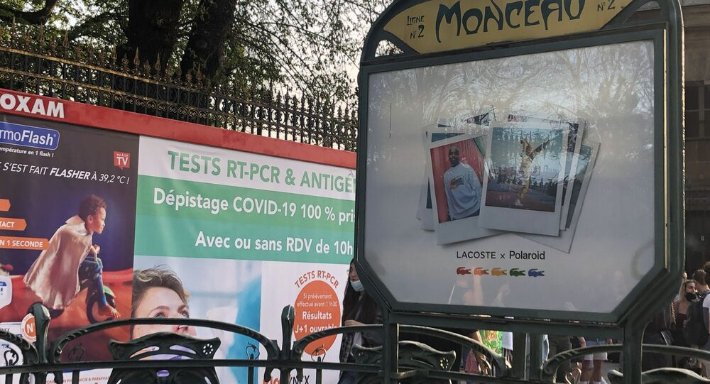 Affiche dépistage Covid-19, Paris, mars 2021