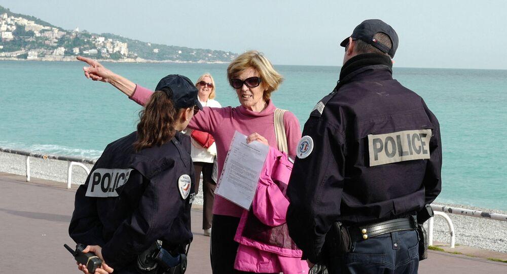 Un contrôle de police