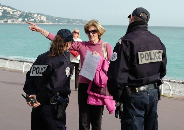 Un contrôle de police, photo d'illustration