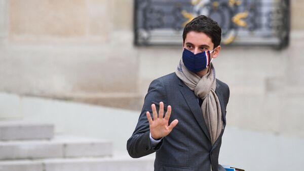 Porte-parole du gouvernement français Gabriel Attal à l'Elysée - Sputnik France