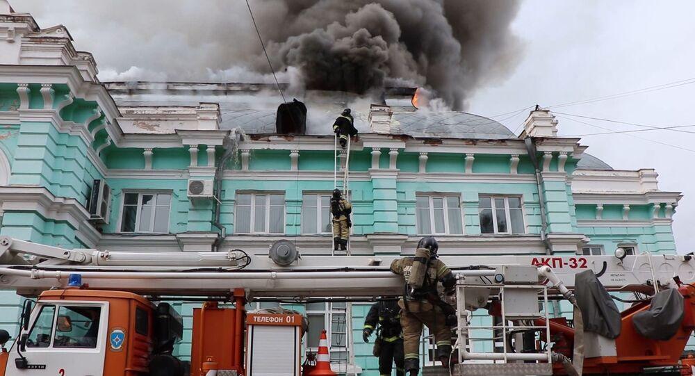 L'incendie dans une clinique de chirurgie cardiaque à Blagovechtchensk