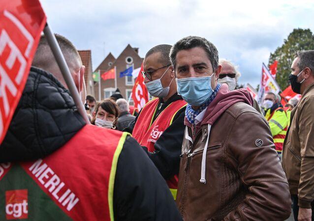 François Ruffin lors d'une manifestation