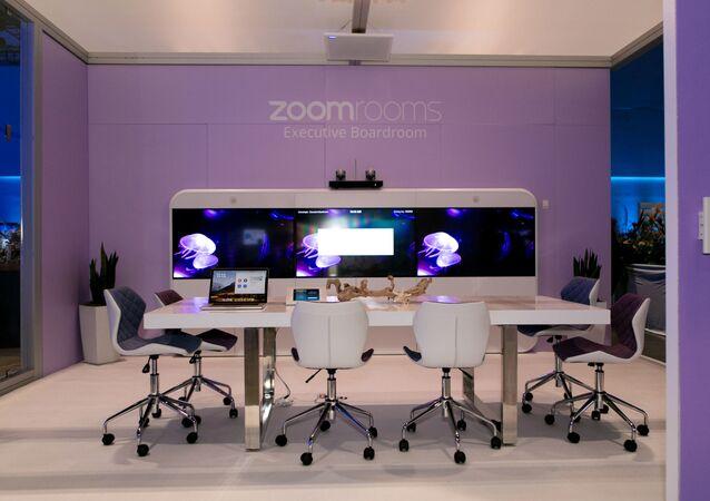 Une salle de conférences Zoom