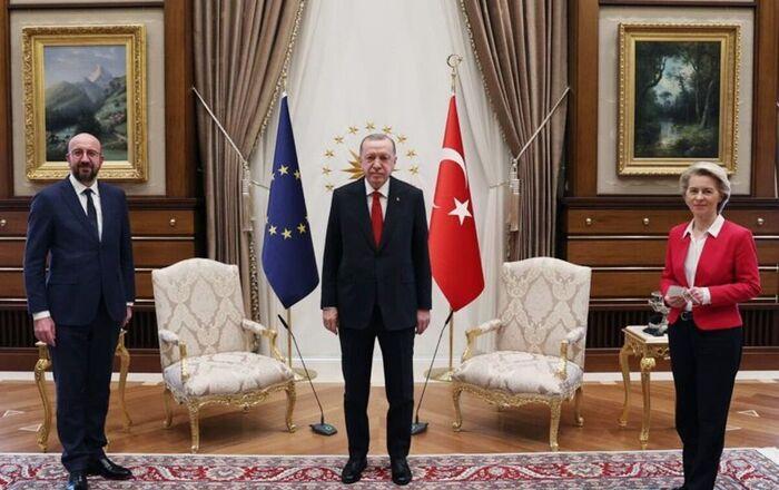 Visite de Charles Michel  et d'Ursula von der Leyen en Turquie