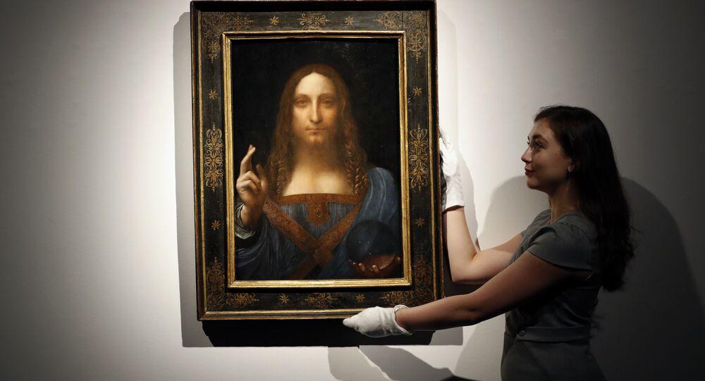 Salvator Mundi de Léonard de Vinci exposé chez Christie's à Londres en octobre 2017