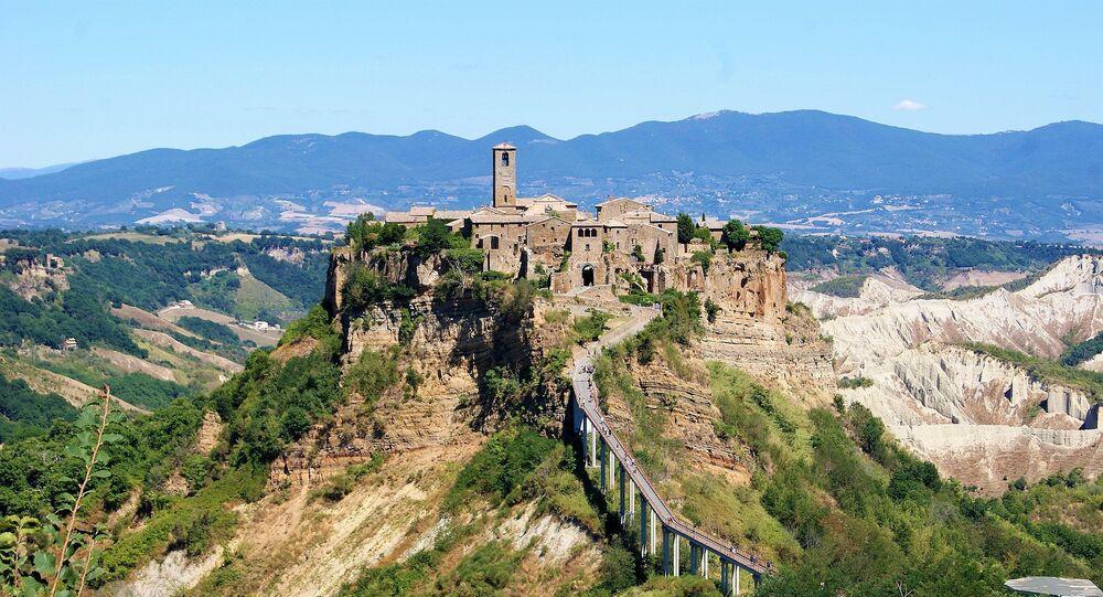 Le hameau de Civita, dans la commune de Bagnoregio (région du Latium),