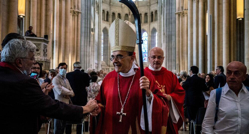 Le cardinal Philippe Barbarin lors de sa dernière messe, le 28 juin 2020 à Lyon