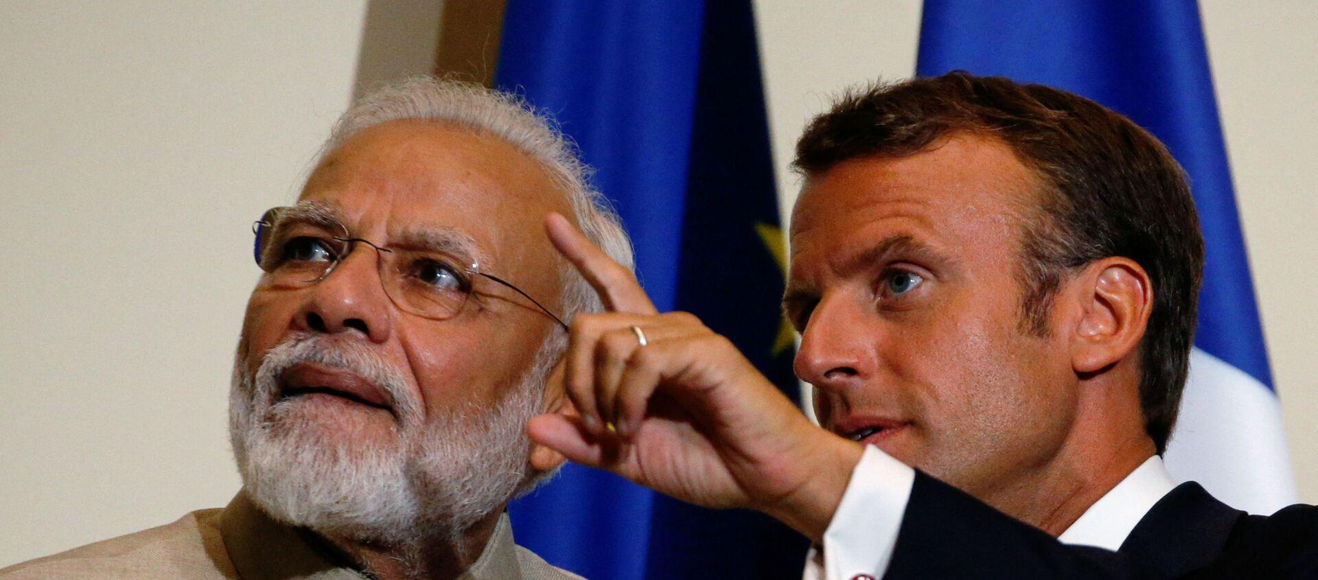 Narendra Modi et Emmanuel Macron - Sputnik France, 1920, 16.04.2021
