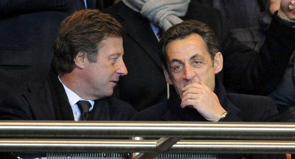 Nicolas Sarkozy, alors président de la République, et Sébastien Bazin, PDG d'Accor.