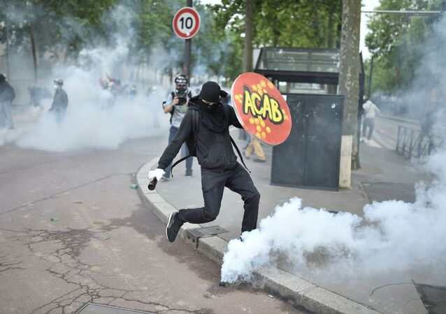 Une manifestation anti police à Nantes, juin 2016