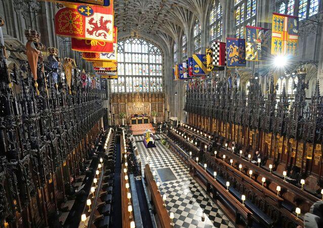 Funérailles du prince Philip, époux de la reine Élisabeth II, au château de Windsor (17 avril 2021)