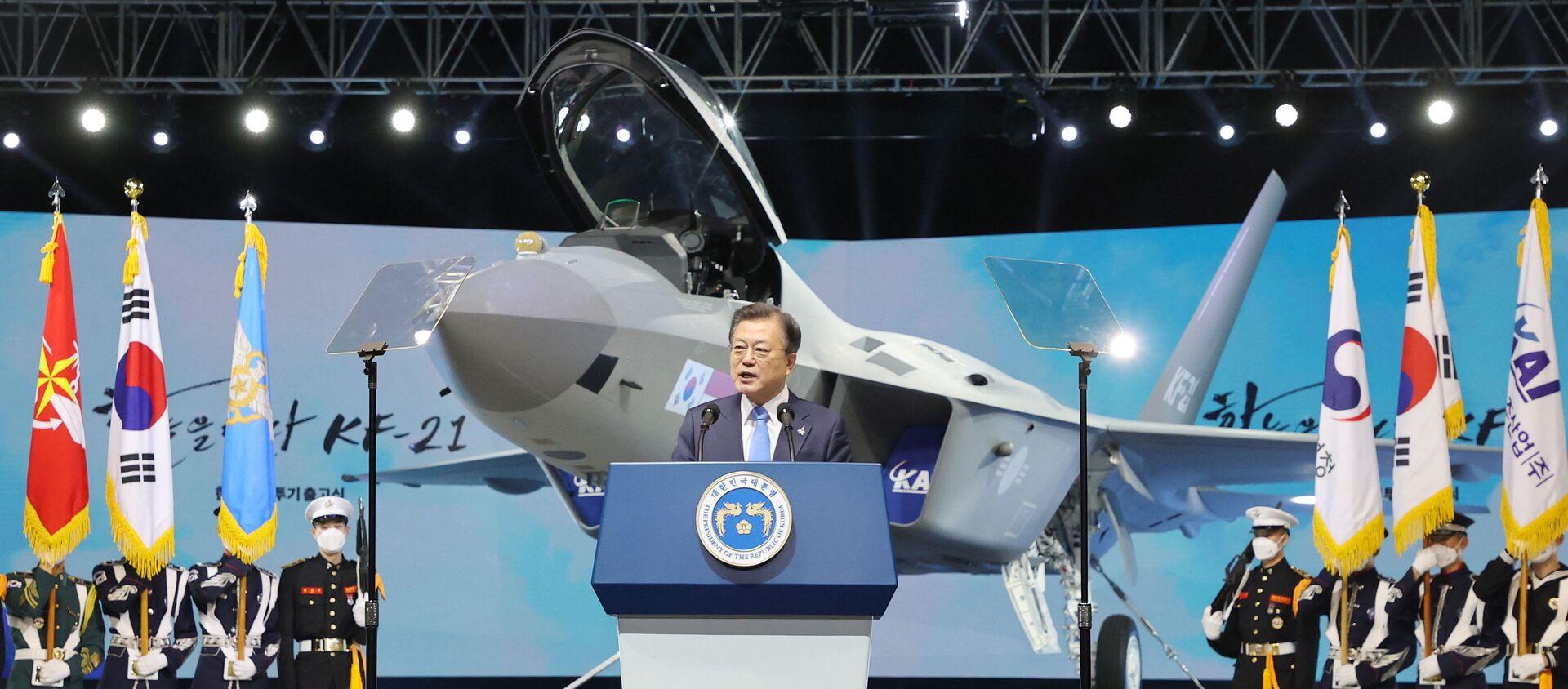 Le Président sud-coréen Moon Jae-in à Sacheon, le 9 avril 2021 - Sputnik France, 1920, 19.04.2021