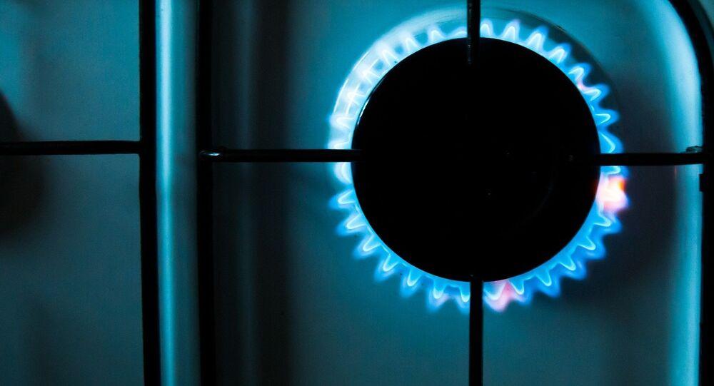 Une gazinière européenne utilise le gaz russe. Image d'illustration