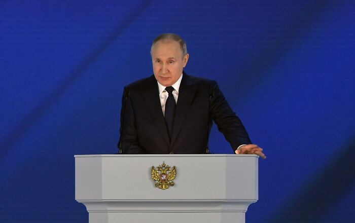 Vladimir Poutine s'adresse à l'Assemblée fédérale, le 21 avril 2021