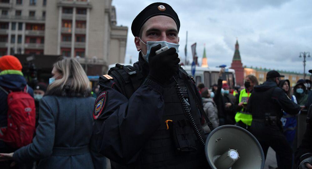 Action non autorisée en soutien à Alexeï Navalny à Moscou