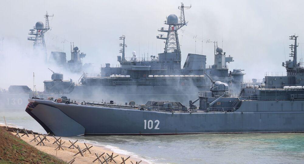 Des exercices militaires en Crimée, avril 2020