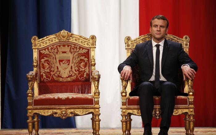 Le Président de la République française Emmanuel Macron à l'Hôtel de Ville de Paris, mai 2017