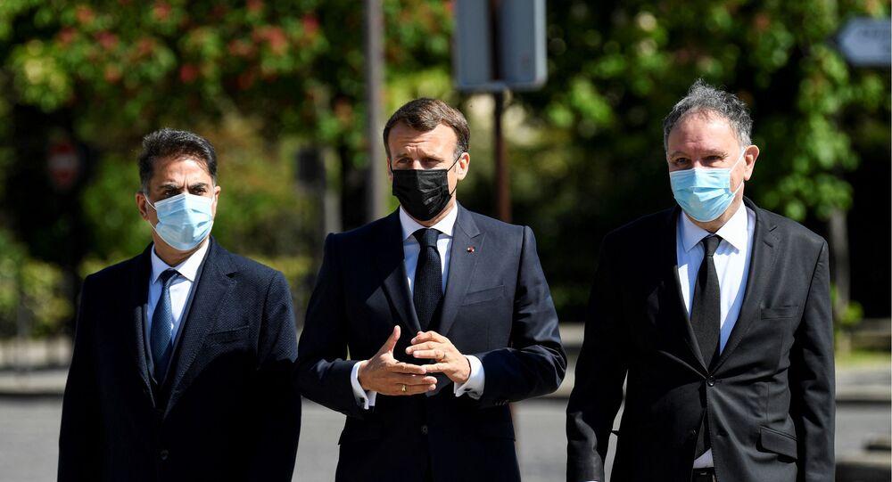 Le Président Macron lors de la commémoration des victimes du génocide du peuple arménien