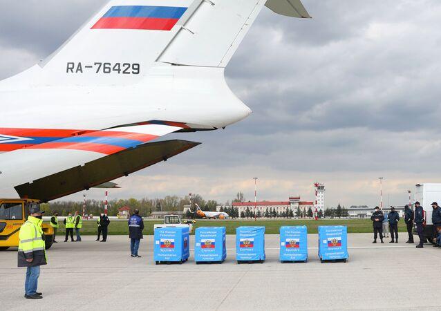 L'arrivée des premières doses de Spoutnik V en Moldavie, le 24 avril
