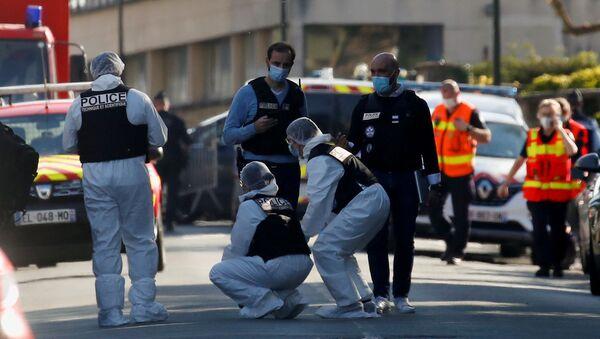 Policiers à Rambouillet après l'attaque au couteau, 23 avril 2021 - Sputnik France