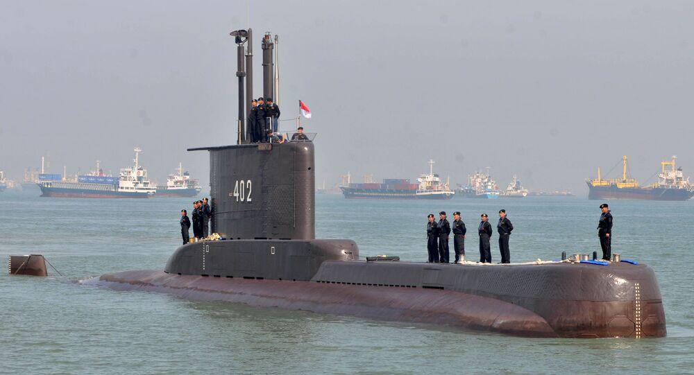 L'équipage du sous-marin KRI Nanggala 402, en 2012
