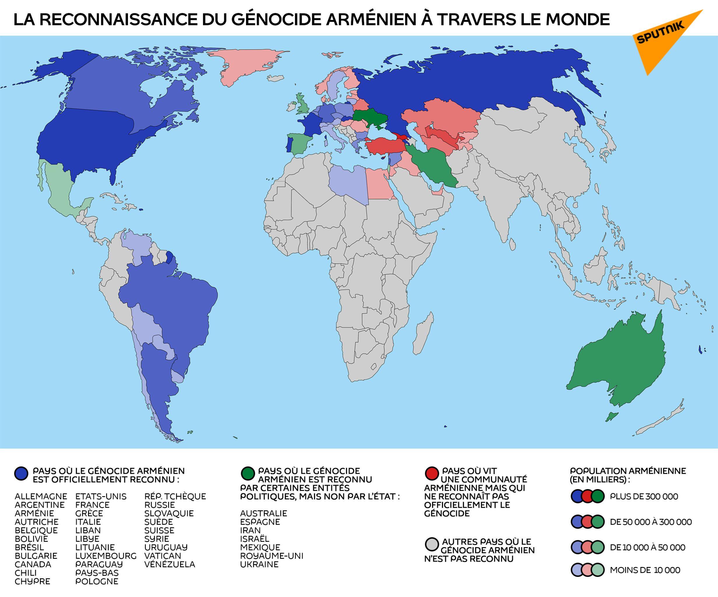 La reconnaissance du génocide arménien à travers le monde