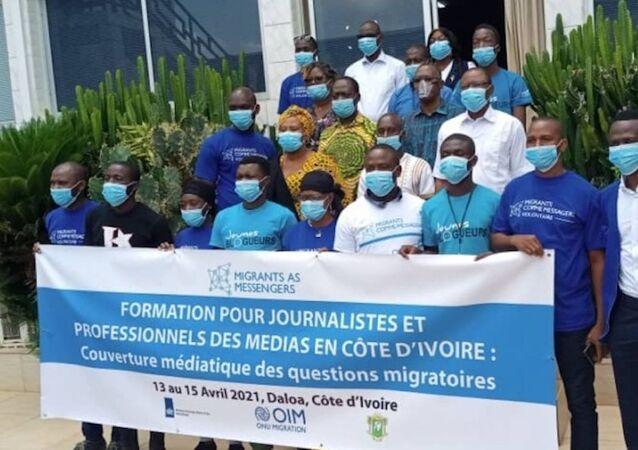 Côte d'Ivoire, Migrants as messengers, formation pour journalistes et professionnels des médias