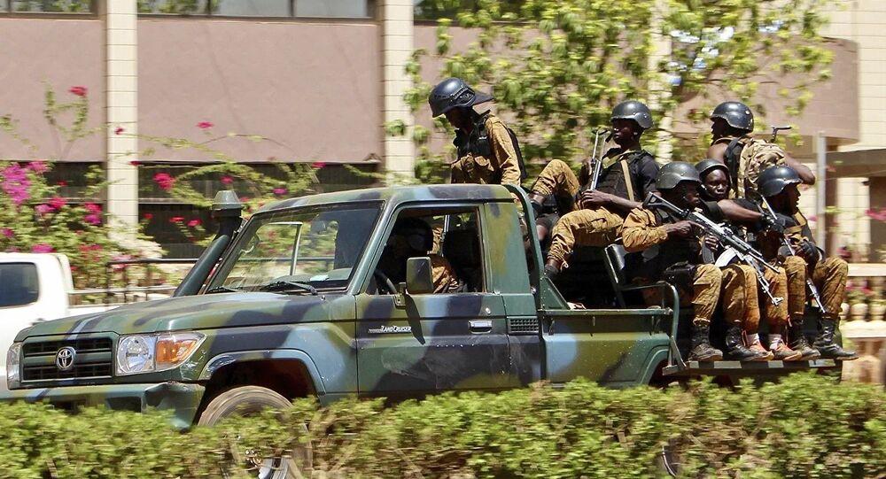 Des militaires au Burkina Faso