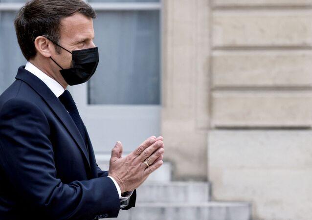 Le Président de la République française, Emmanuel Macron, le 29 avril 2021