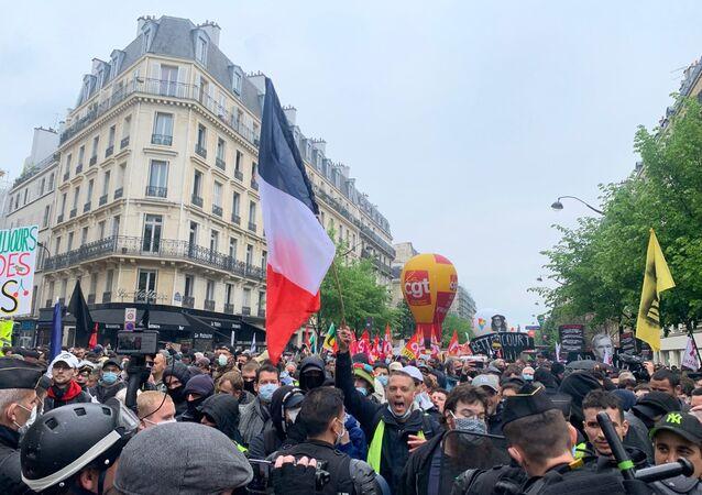 Manifestation du 1er mai à Paris, en 2021