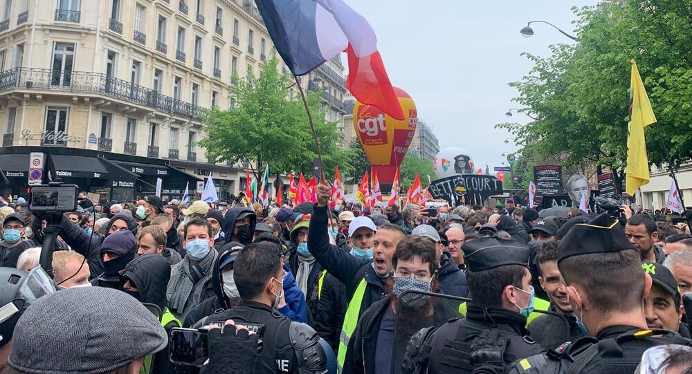 Manifestation du 1er mai à Paris, 2021