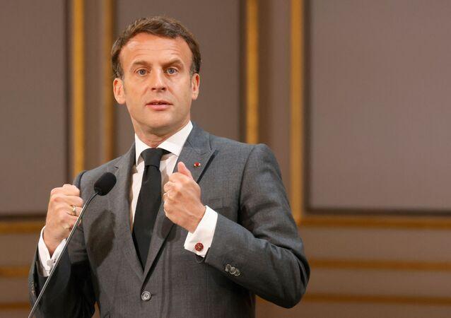 Emmanuel Macron, le 1er mai 2021