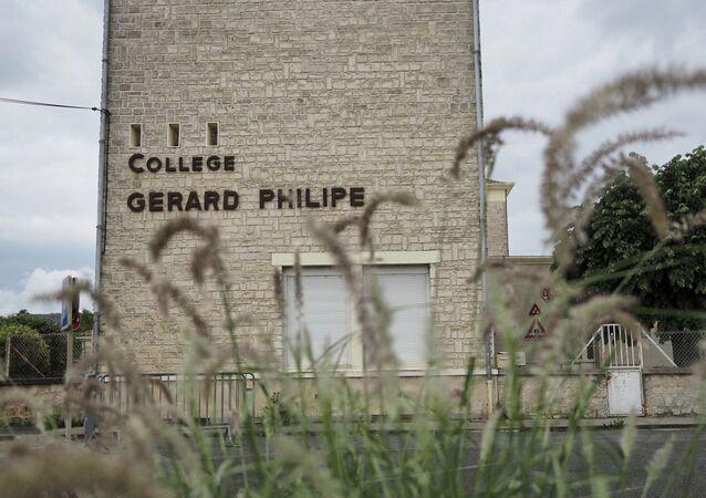 Le collège Gérard-Philippe à Chauvigny