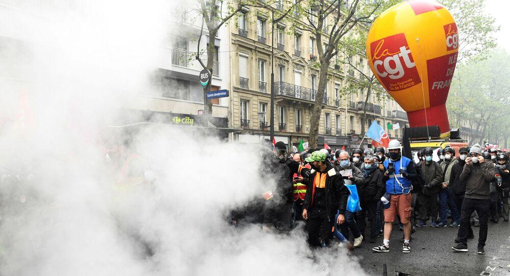 Le défilé de la CGT, le 1er mai à Paris