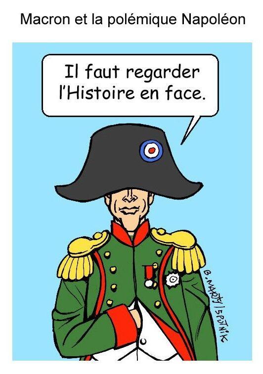 Macron et la polémique Napoléon