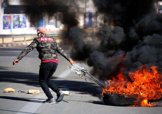 Une manifestation en Tunisie