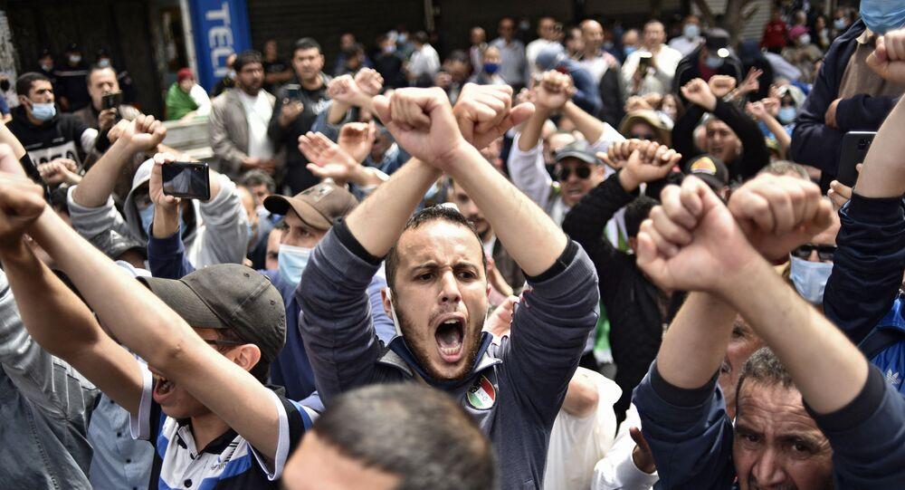 Manifestation en Algérie, image d'illustration
