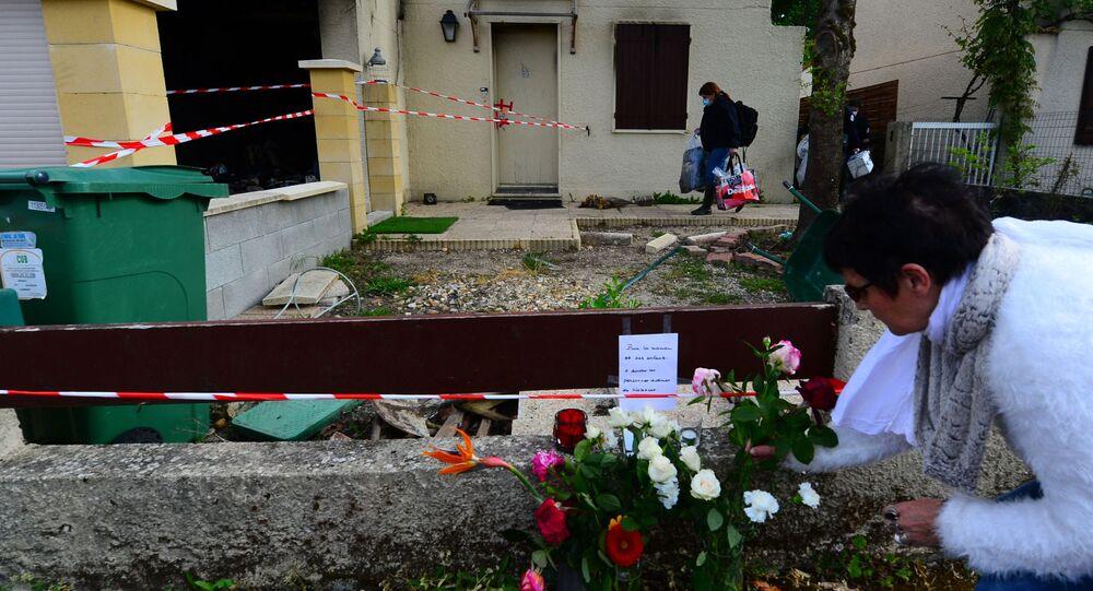 Hommage à Chahinez B., immolée par le feu par son mari près de Bordeaux, à Mérignac