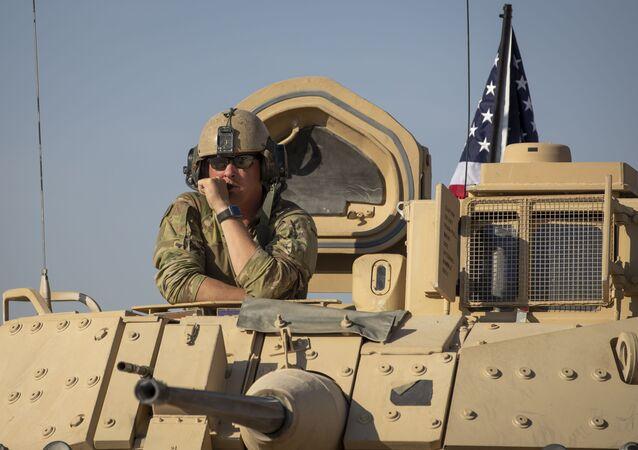 Un véhicule militaire américain dans le nord-est de la Syrie (archive photo)