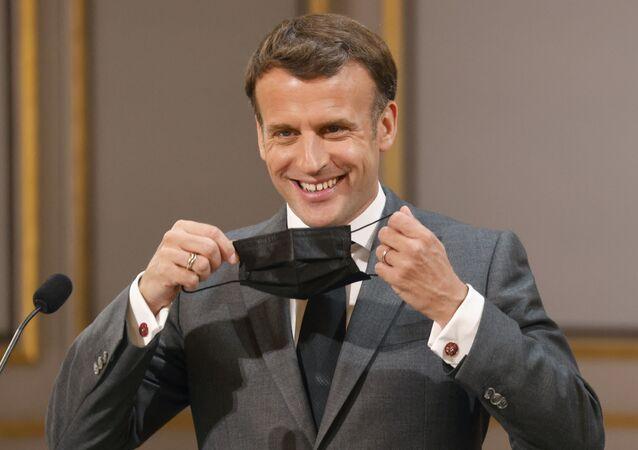 Emmanuel Macron, le 1er mai, à Paris