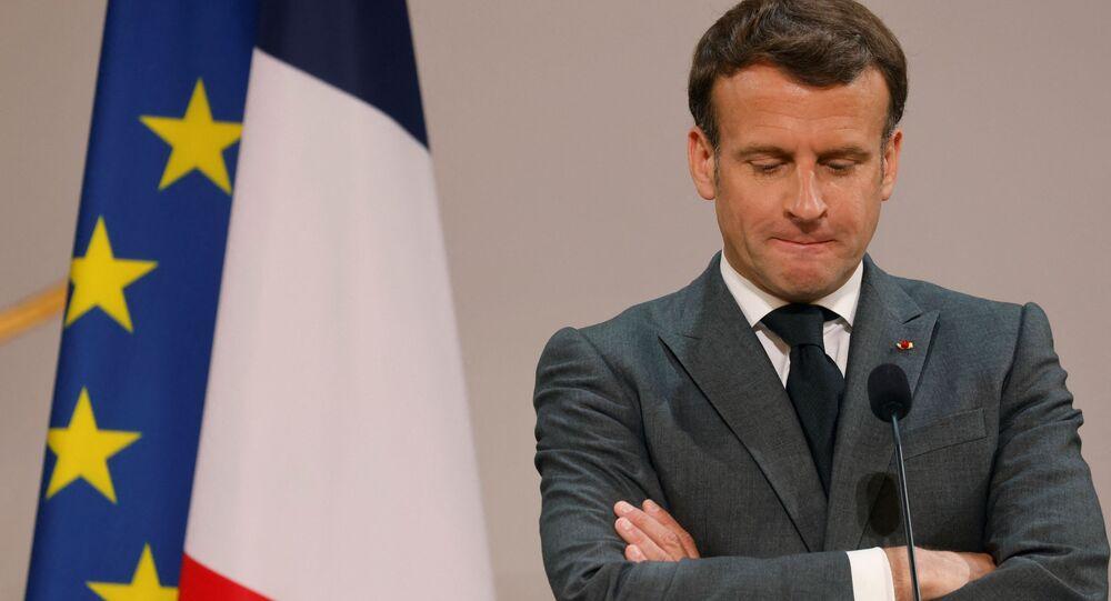 Le Président de la République française, Emmanuel Macron, le 1er mai 2021