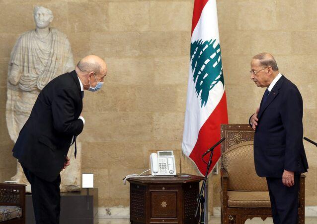Jean-Yves Le Drian au Liban