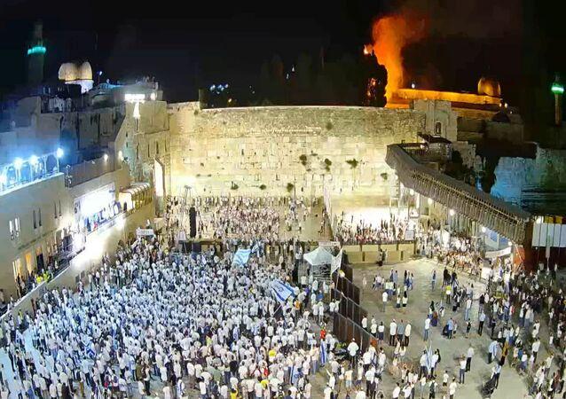 Incendie sur le mont du Temple