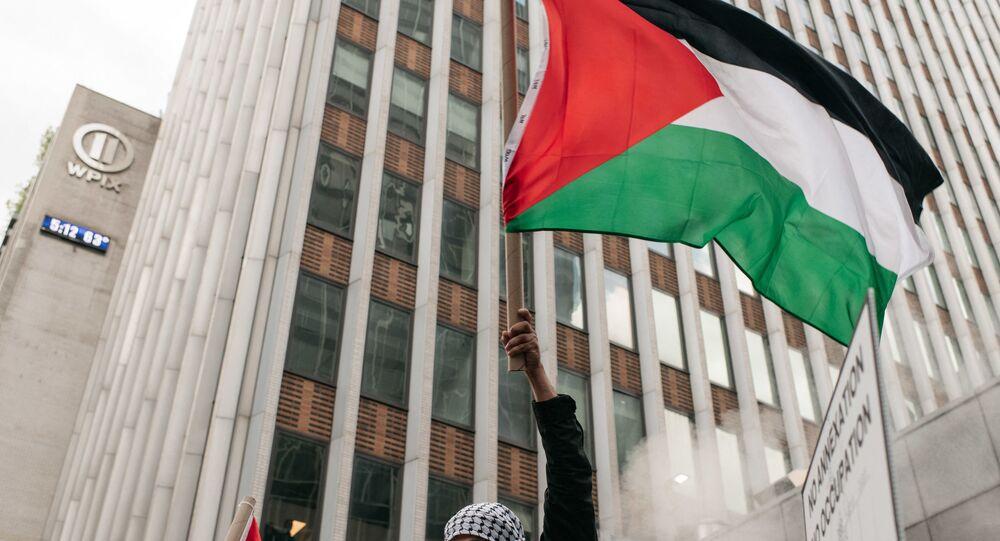 Une manifestation de soutien aux Palestiniens à New York, 11 mai 2021